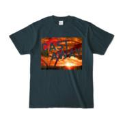 Tシャツ デニム CAST_AWAY_SUNRISE