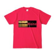 Tシャツ ホットピンク Maine_Lake