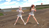 【MMD】リベッチオとマエストラーレは超田舎を満喫中