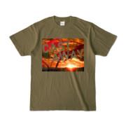 Tシャツ オリーブ CAST_AWAY_SUNRISE