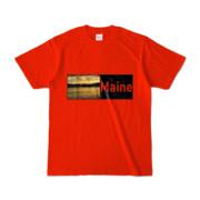 Tシャツ レッド Maine_Lake