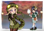 アフリカニシキヘビのお面