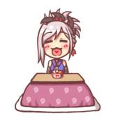 【GIFアニメ】おなかがすいてはいくさができぬ!