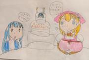 チノちゃんのためにバースデーケーキを作ったここあさん
