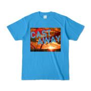 Tシャツ ターコイズ CAST_AWAY_SUNRISE