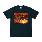 Tシャツ ネイビー CAST_AWAY_SUNRISE