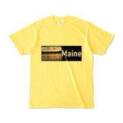 Tシャツ イエロー Maine_Lake