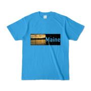 Tシャツ ターコイズ Maine_Lake