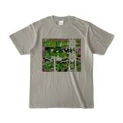 Tシャツ シルバーグレー Grass_Tower
