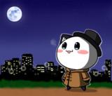 ポジティブ猫ヤミーくん  「夜空を見上げる」