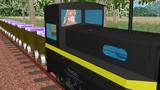 サンドスター鉱山からのトロッコ列車