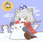 make a 雪だるま