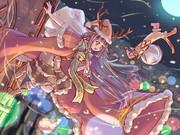 クリスマス絵(カラーラフ)