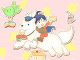 もふ知ら:白犬の配達屋さん