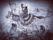 終焉の笛を吹く青い馬の騎士