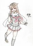 夕立さんとお絵描き練習7