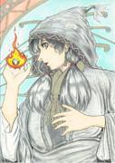 魔女の女学生のポスター カラー版