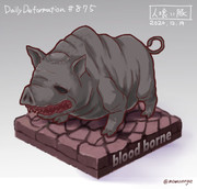 ほぼ毎日デフォルメ#875 人喰い豚