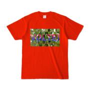 Tシャツ | レッド | VOLTEI_Grass
