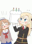 ココちゃんに豆腐ケーキをもらったミーちゃん!