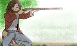 近所の鹿撃ち系女子