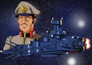 地球連邦軍中将マクファティ・ティアンム提督