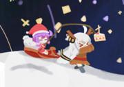 サンタゆかりさんとトナカイあかりちゃん