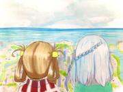 山頂から見える神浜市街地を眺めながら