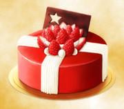 クリスマスプレゼントケーキ