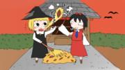 焼き芋を焼くゴゴゴとトガシ