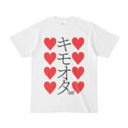 Tシャツ ホワイト 文字研究所 キモオタ