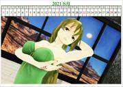 2021年の六導玲霞カレンダー!・8月