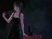 黒猫と黒ドレス