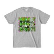 Tシャツ 杢グレー Grass_Tower