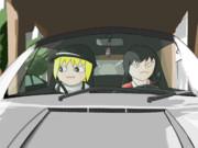 車でお出かけするゴゴゴとトガシ