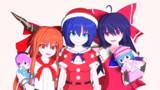 【Blender】プレゼントとサンタをGETしたれいすいか【東方】
