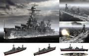 MMD用モブ重巡洋艦1942(モブザンプトン級モブーストン)セット