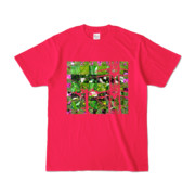 Tシャツ ホットピンク Grass_Tower