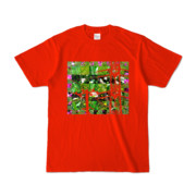 Tシャツ レッド Grass_Tower