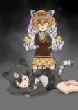 ヒグマとアムールトラ