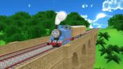 陸橋を渡るトーマス