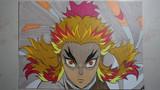 【鬼滅の刃 無限列車編】煉獄杏寿郎描いてみた。