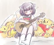 ギターの練習が子守歌に変化するころ…