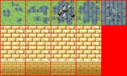 【Elona】廃墟の床と黄金の壁【マップチップ】