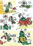 【1P漫画】もしもゴメスとリトラが、共生関係を築いていたら。(カラーver.)