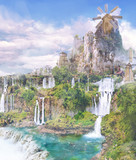 TRPG】【フリー素材】風車と谷【ゲーム使用OK】【ファンタジー】
