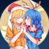 クリスマスあおりんご