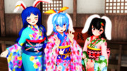 【東方ニコ楽祭・新春】振袖うさぎ
