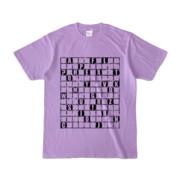 Tシャツ | ライトパープル | ALPHABET_GRAVEL
