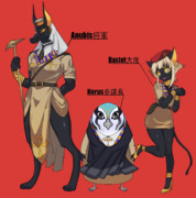 エジプト神+エジプト軍(ぷっコクシリーズ)